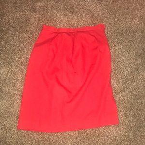 Vintage red midi skirt size 8 (2018)